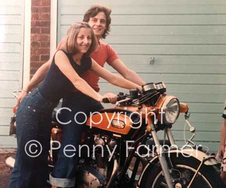 Chris and Peta in the summer of 1977, the year before their fateful trip to Central America.